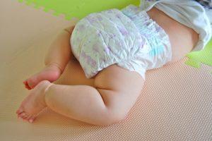 赤ちゃんの下痢で緑色の便が出た!