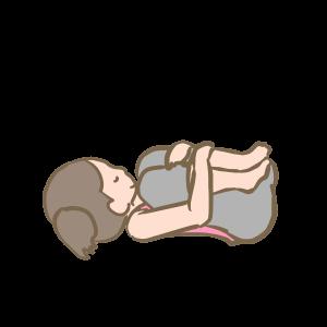 産後太りに効果のあるヨガのポーズ赤ちゃんのポーズ
